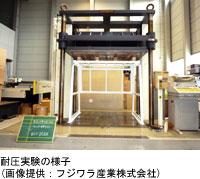 耐圧実験の様子(画像提供:フジワラ産業株式会社)