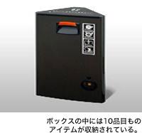 ボックスの中には10品目ものアイテムが収納されている。