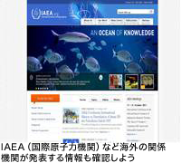 IAEA(国際原子力機関)など海外の関係機関が発表する情報も確認しよう