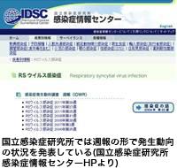 国立感染症研究所では週報の形で発生動向の状況を発表している(国立感染症研究所感染症情報センターHPより)