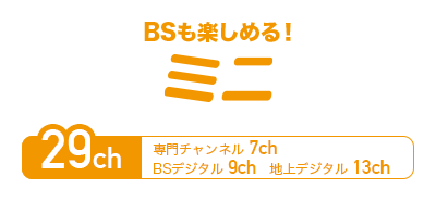 BSも楽しめる!ミニ
